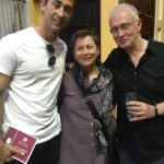 The author, Anne Enright, and Joseph O'Connor. Not drunk, I swear.