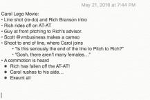 Original Script Notes
