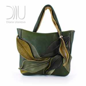 Women Luxury Handbags. Bamboo Dark Green by Diana Ulanova. Buy on women-bags.com