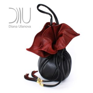 Designer Shoulder Bags On Sale. Orchid Feedbag Black/Dark Red by Diana Ulanova. Buy on women-bags.com