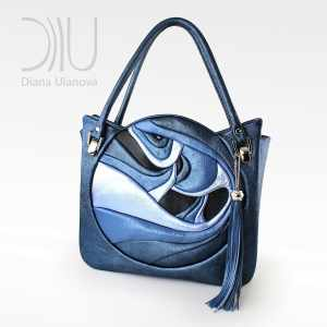 Luxury Handbags. Fugu Blue Metallic by Diana Ulanova. Buy on women-bags.com