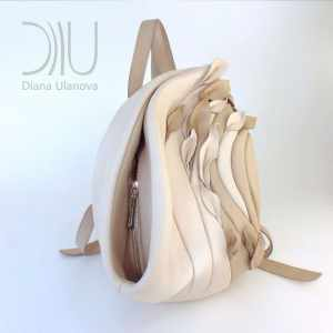 Designers Backpack. Savanna Beige/Blue by Diana Ulanova. Buy on women-bags.com