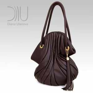 Designer Shoulder Bags On Sale. Elephant Dark Brown by Diana Ulanova. Buy on women-bags.com