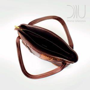 Ladies Designer Bags. Feather Maxi Brown by Diana Ulanova. Buy on women-bags.com