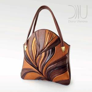 Designer Women Handbags. Feather Maxi Brown by Diana Ulanova. Buy on women-bags.com