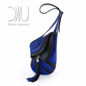 Shoulder Designer Bags. Jockey Black/Blue by Diana Ulanova. Buy on women-bags.com