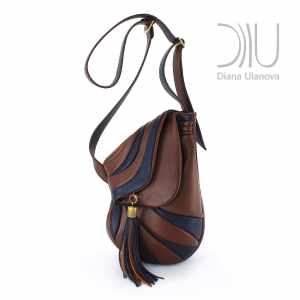 Designer Shoulder Bags. Jockey Black/Brown by Diana Ulanova. Buy on women-bags.com