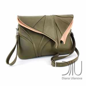 Shoulder Bags Designer. Leaf Maxi Grass Green by Diana Ulanova. Buy on women-bags.com