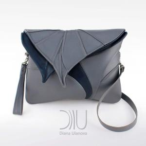 Designer Shoulder Bags. Leaf Maxi Grey by Diana Ulanova. Buy on women-bags.com
