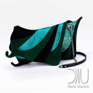 Womens Designer Clutch Bag. Machaon Green 1 by Diana Ulanova. Buy on women-bags.com