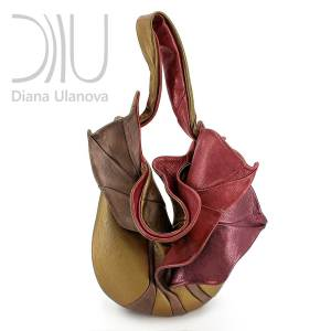 Shoulder Designer Bags. Orchid Gold/Red by Diana Ulanova. Buy on women-bags.com