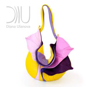 Designer Over Shoulder Bags. Orchid Yellow/Purple by Diana Ulanova. Buy on women-bags.com