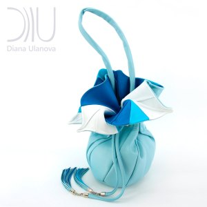 Shoulder Bag Designer. Orchid Feedbag Light Blue by Diana Ulanova. Buy on women-bags.com