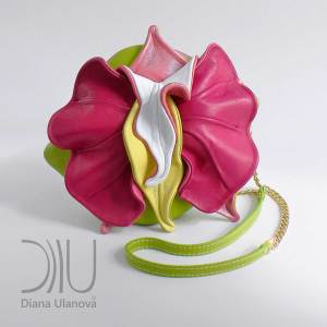 Small Designer Handbags. Orchid Mini Green/Pink by Diana Ulanova. Buy on women-bags.com