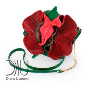 Miniature Designer Bags. Orchid Mini Green/Red (Dark) by Diana Ulanova. Buy on women-bags.com