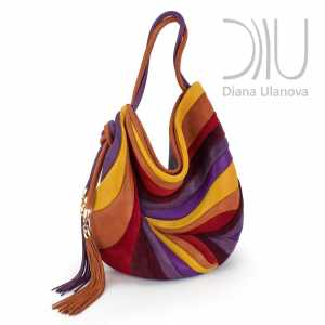 Designer Shoulder Bags On Sale. Feather Multicolored by Diana Ulanova. Buy on women-bags.com
