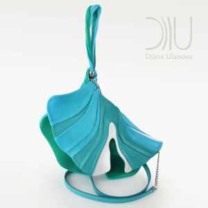 Shoulder Designer Bags. Ginkgo Clutch-Light Blue by Diana Ulanova. Buy on women-bags.com