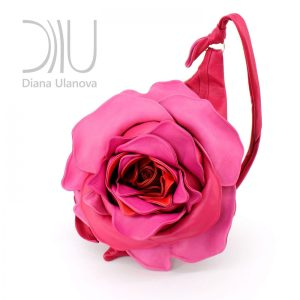 Designer Shoulder Bag. Royal Rose Pink by Diana Ulanova. Buy on women-bags.com