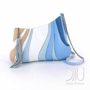 Over The Shoulder Bags Designer. Sputnik White/Blue by Diana Ulanova. Buy on women-bags.com