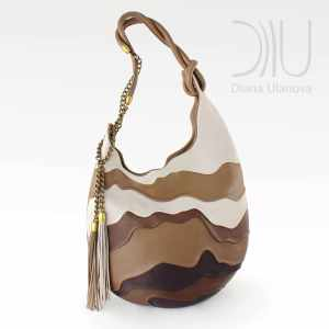 Shoulder Bags Designer. Hive Brown/White by Diana Ulanova. Buy on women-bags.com