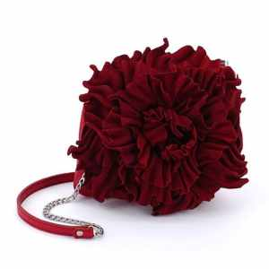 Mini Leather Handbags. Peony Mini Burgundy by Diana Ulanova. Buy on women-bags.com