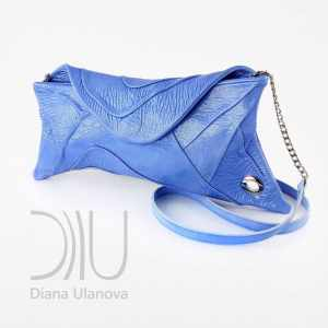 Luxury Clutch Bags. Scroll Light Blue by Diana Ulanova. Buy on women-bags.com