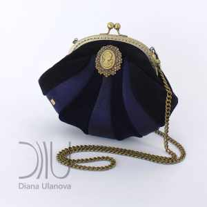 Mini Designer Handbags. Reticule Shell Blue 1 by Diana Ulanova. Buy on women-bags.com
