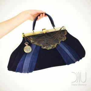 Luxury Handbags. Sacvoyage Vintage Blue by Diana Ulanova. Buy on women-bags.com