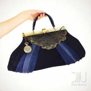 Luxury Handbags. Sacvoyage Vintage Blue by Diana Ulanova. Buy on women-bags.com