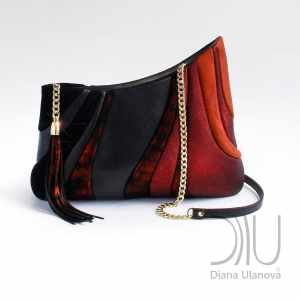 Shoulder Bags Designer. Sputnik Black/Red by Diana Ulanova. Buy on women-bags.com
