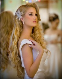 Loose Wave Wedding Hairstyle to Cover Ears - Women Hairstyles