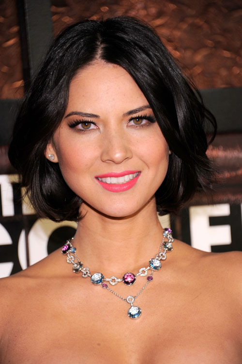 Celebrity With Chin Length Haircut Olivia Munn Women