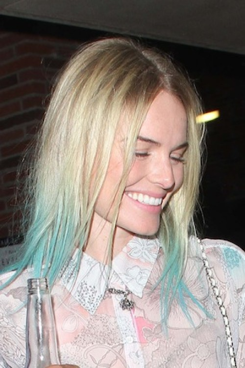Celebrities With Dip Dyed Hair Color Women Hairstyles