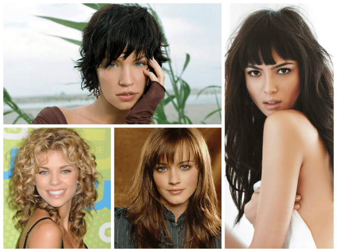 the best bang hairstyles for oval face shapes - women hairstyles