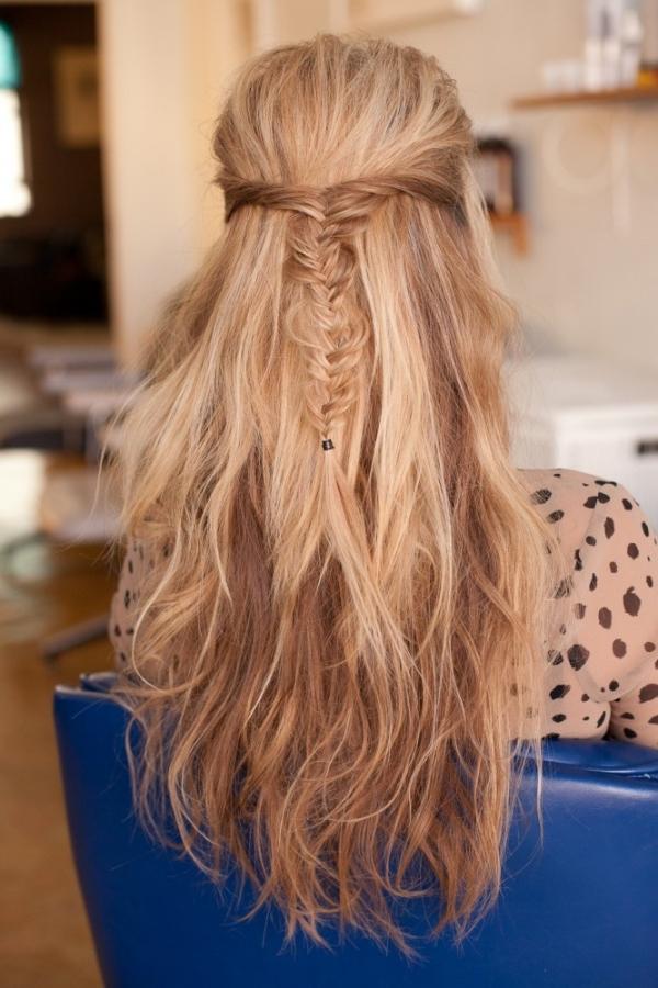 Half Up Half Down Braided Hairstyle Women Hairstyles