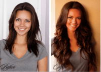 wedding hair extensions before and after clip in hair ...