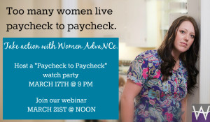 Paycheck to paycheck-- take action