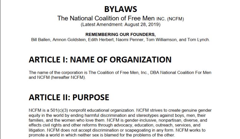 ncfm bylaws