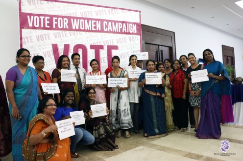 The team behind the Vote for Women campaign