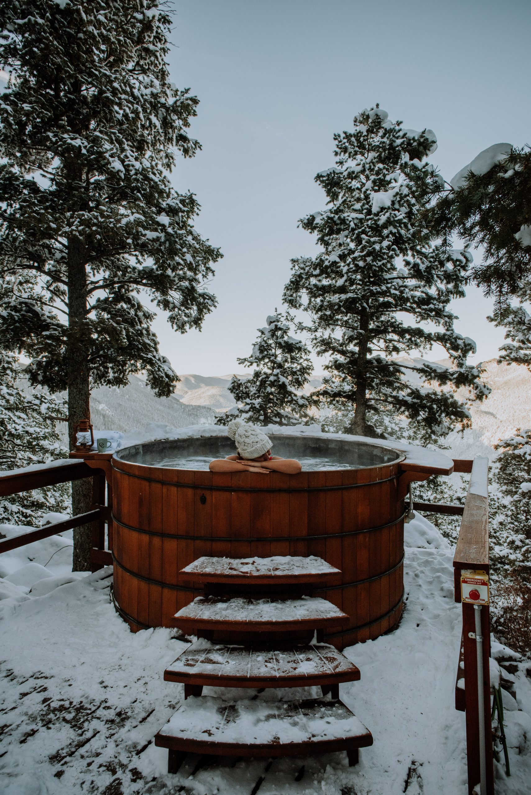 The Broadmoor cloud camp rocky mountain views and hot tub