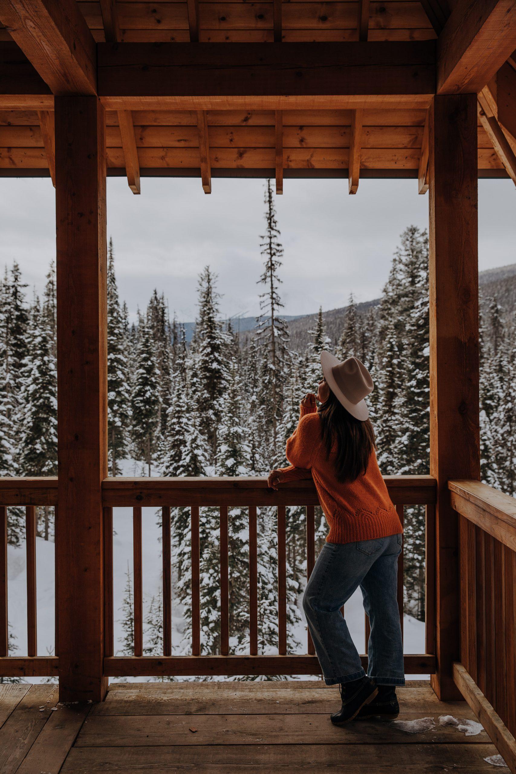 Emerald Lake Lodge Balcony view