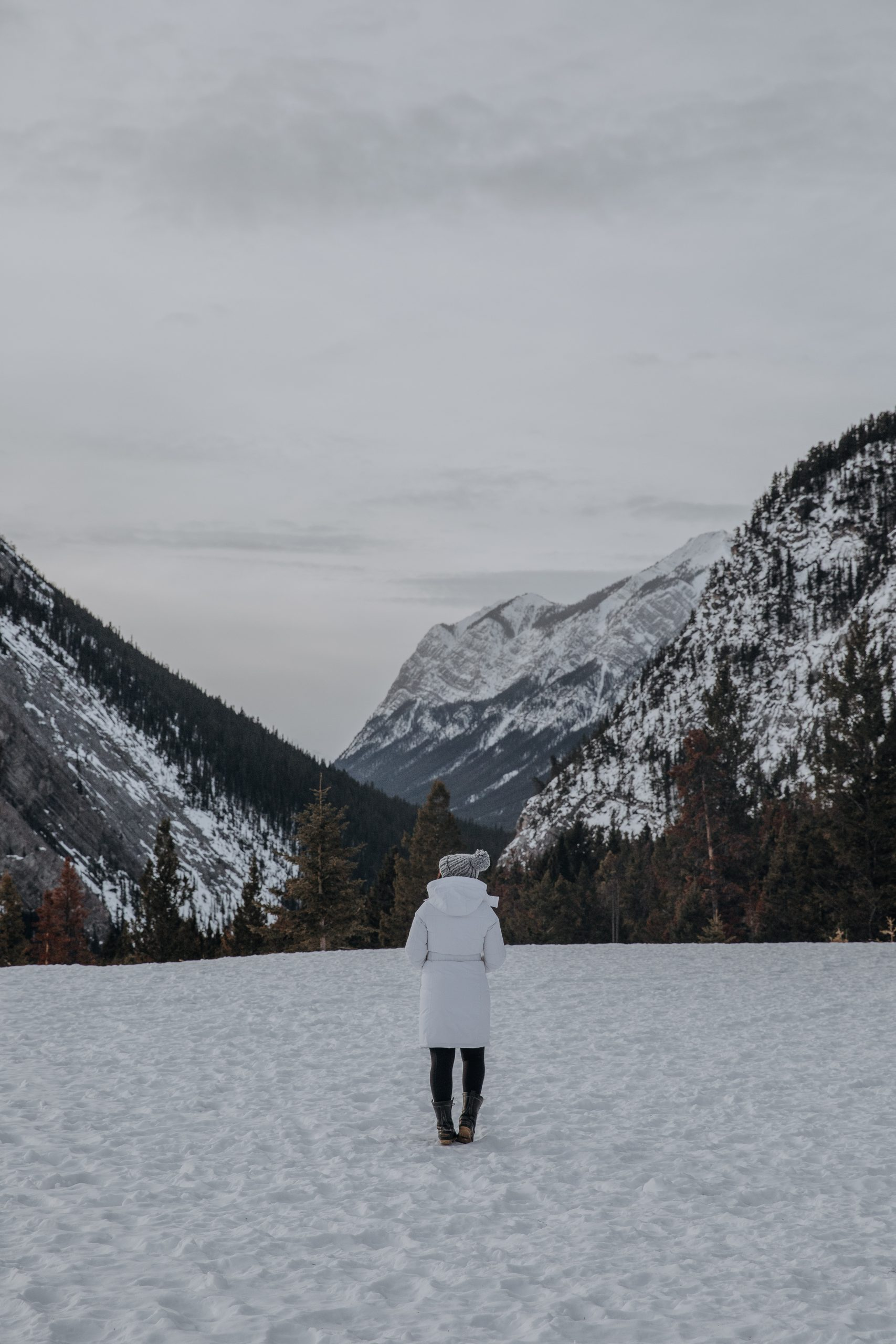 Girl in the Canadian Rockies