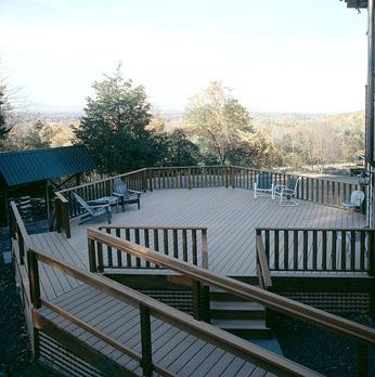 mountain view deck