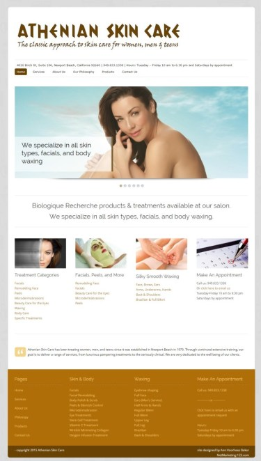 Athenian Skin Care Home Page