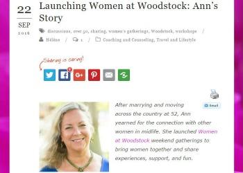 Next Act For Women article screenshot