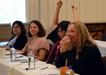Angela Kaufman in workshop