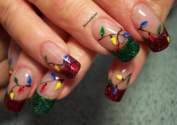 Happy Christmas Nail Art Ideas
