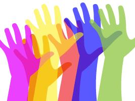 Rainbow diversity hands