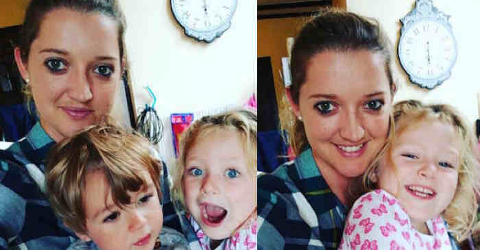 Sarah Taylor with her niece and niece