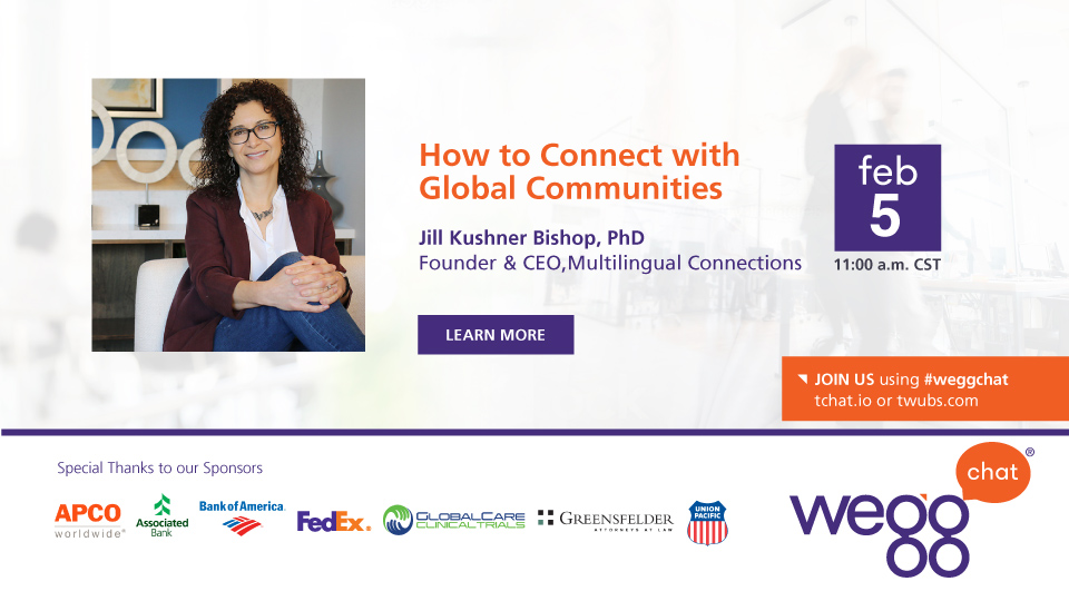weggchat with Jill Kushner Bishop on Feb 5